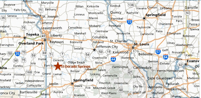 Official City Website City Maps And Directions El Dorado - Missouri map